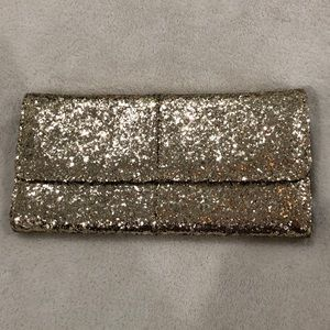 Thirty-One City Lights Gold Clutch NWOT